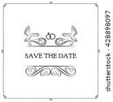 wedding invitation. save the... | Shutterstock .eps vector #428898097