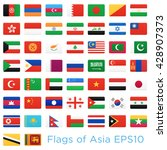 asian countries flags. vector... | Shutterstock .eps vector #428907373