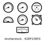 set of isolated black icons on... | Shutterstock .eps vector #428915893