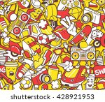 graffiti seamless pattern with... | Shutterstock . vector #428921953