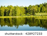 beautiful lake landscape in... | Shutterstock . vector #428927233
