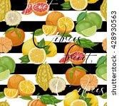 seamless pattern with citrus... | Shutterstock .eps vector #428930563