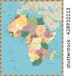 africa old vintage political... | Shutterstock .eps vector #428932213