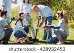 volunteering  charity  people... | Shutterstock . vector #428932453