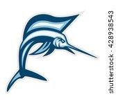 sailfish sport logo template   Shutterstock .eps vector #428938543
