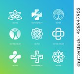 vector set of abstract logos... | Shutterstock .eps vector #428947903