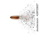 bullet shot smashed the glass... | Shutterstock .eps vector #428953837