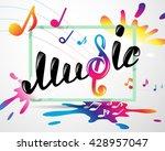 colorful music logo in frame | Shutterstock .eps vector #428957047