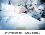 account department work online... | Shutterstock . vector #428958883