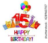 happy birthday card.... | Shutterstock . vector #428960707