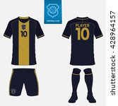 set of soccer or football kit... | Shutterstock .eps vector #428964157