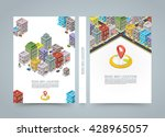 road in the city isometric... | Shutterstock .eps vector #428965057