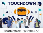 touchdown american football... | Shutterstock . vector #428981377