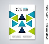cover flyer report colorful... | Shutterstock .eps vector #428987053
