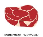fresh crude pork meat steak... | Shutterstock .eps vector #428992387
