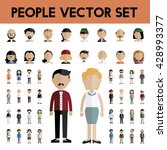 diversity community people flat ... | Shutterstock .eps vector #428993377