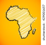 sketch african continent africa ... | Shutterstock .eps vector #429001657