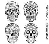 day of the dead sugar skull... | Shutterstock .eps vector #429002557