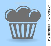 flat icon cake icon | Shutterstock .eps vector #429005107