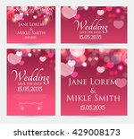 wedding invitation cards... | Shutterstock .eps vector #429008173