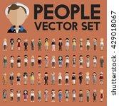 diversity community people flat ... | Shutterstock .eps vector #429018067