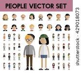 diversity community people flat ... | Shutterstock .eps vector #429018073