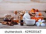 natural spa ingredients herbal... | Shutterstock . vector #429020167