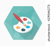 painting icon   vector flat...