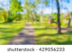image of blur  walkway with... | Shutterstock . vector #429056233