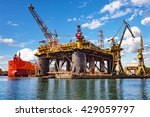 oil rig under construction at... | Shutterstock . vector #429059797