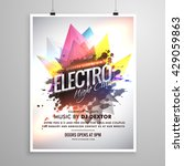 electro night club music party...   Shutterstock .eps vector #429059863