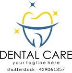 dental logo template. | Shutterstock .eps vector #429061357