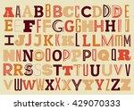 vintage geometric alphabet... | Shutterstock .eps vector #429070333