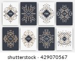 set of geometric abstract... | Shutterstock .eps vector #429070567