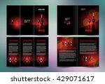 business brochure set design... | Shutterstock .eps vector #429071617