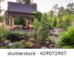 an custom designed shelter is... | Shutterstock . vector #429072907