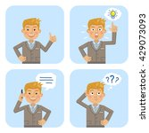 set of businessman characters... | Shutterstock .eps vector #429073093