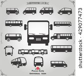 bus icon | Shutterstock .eps vector #429077473