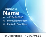 blue abstract template for card ... | Shutterstock .eps vector #429079693