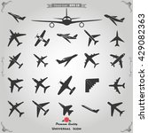 vector airplane icons icon... | Shutterstock .eps vector #429082363