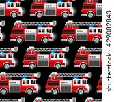 3d illustration of a red fire...   Shutterstock .eps vector #429082843