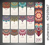 calendar 2017. vintage... | Shutterstock .eps vector #429105667
