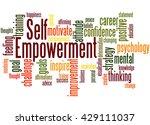 self empowerment  word cloud... | Shutterstock . vector #429111037