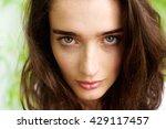 Close Up Portrait Of Female...