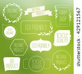 collection of green labels and... | Shutterstock .eps vector #429121567