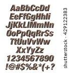 3d dark chocolate alphabets... | Shutterstock . vector #429122383