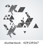 abstract triangle shape.... | Shutterstock .eps vector #429139267