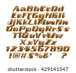 chocolate alphabets on white... | Shutterstock . vector #429141547