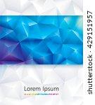 abstract geometric polygonal... | Shutterstock .eps vector #429151957