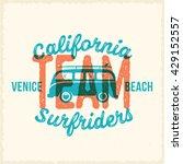 retro print style surfing... | Shutterstock .eps vector #429152557